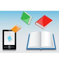E-book and its contents vector image vector image