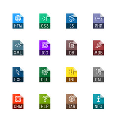 File type icons - websites and applications vector