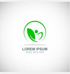 green leaf beauty organic logo vector image vector image