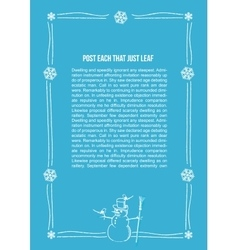 Hand drawn snowman frame with vector image vector image