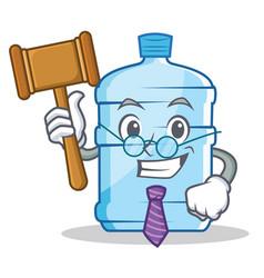 Judge gallon character cartoon style vector