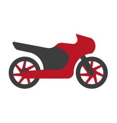 kawasaki motorcycle silhouette flat logo sign vector image