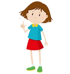Little girl with short hair vector image