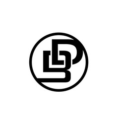 Modern logo solution letter b d vector