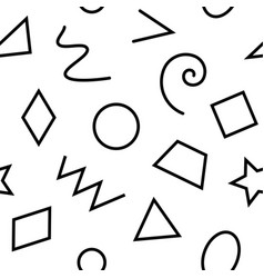 Monochrome basic geometrical shapes seamless vector