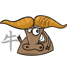 ox chinese horoscope sign vector image