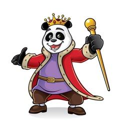 Panda King vector image vector image