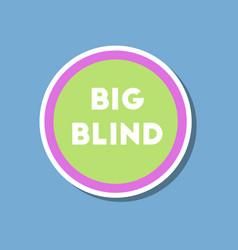 paper sticker on stylish background poker big vector image