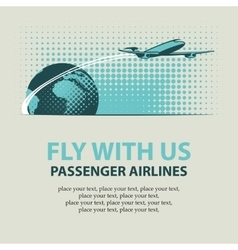 passenger plane and planet Earth vector image