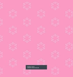 Pink flower pattern background vector