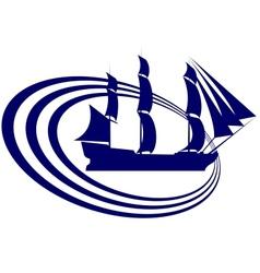 Sailing ship-13 vector