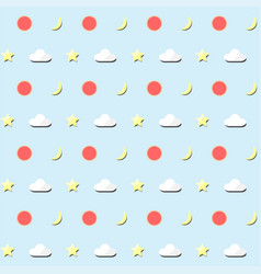 Seamless pattern background of the sky vector