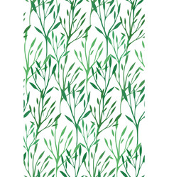 seamless texture with green leaves and branches vector image