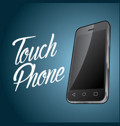 Smartphone device design poster vector
