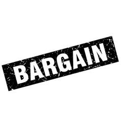 Square grunge black bargain stamp vector