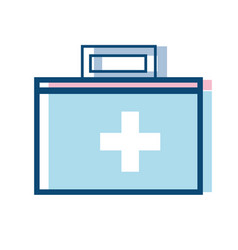 suitcase with medical first aid kit vector image vector image