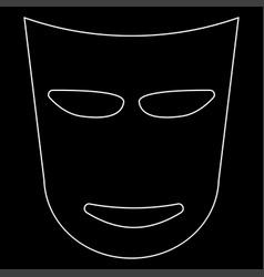 Theater mask the white path icon vector