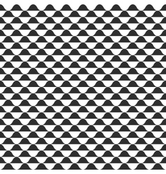 Wave seamless pattern black and white vector