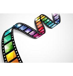 Colorful film strip vector image