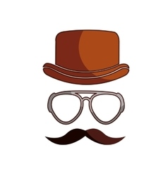 hipster style hat accessory isolated icon vector image
