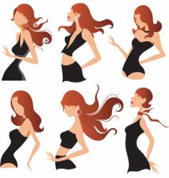 fashion pose designs vector image