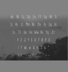 Hand drawing sketch alphabet vector