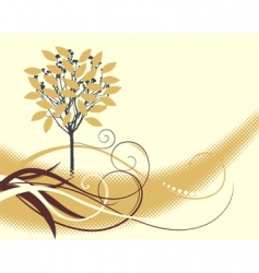 elegant background with a tree vector image