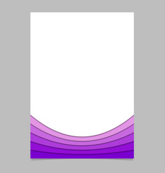 Document template from purple curved layers - vector