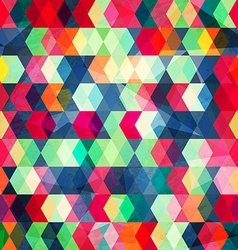 Colored cubes seamless with grungr effect vector