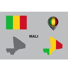 Map of mali and symbol vector