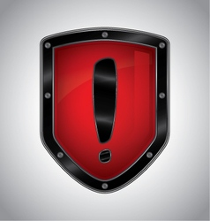 Security alert shield symbol icon vector