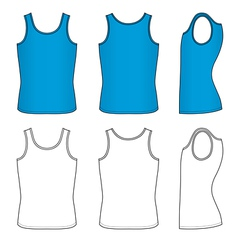 Blue striped vest vector
