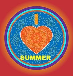 Summer party invitation i heart summer vector