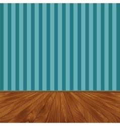 Wall and a wooden floor vector