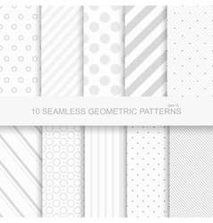 10 geometric seamless patterns vector