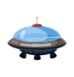 Flying saucer icon cartoon style vector