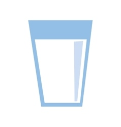 Drink design glass icon flat and isolated vector