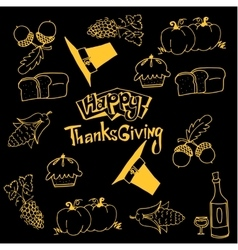 Happy thanksgiving doodles art vector