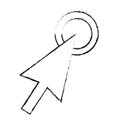 arrow selection point click icon vector image