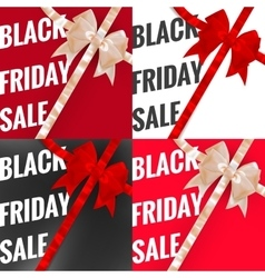 Black friday sale typographical set eps 10 vector