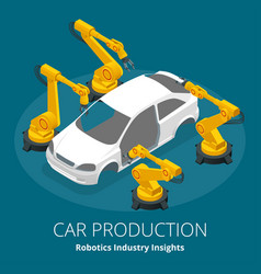 Car manufacturer or car production concept vector