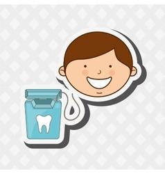 Dental health design vector