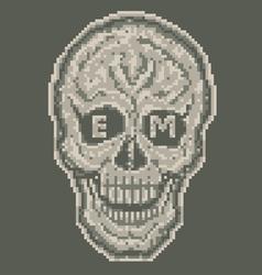 Digital skull vector