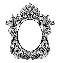 fabulous baroque mirror frame set french vector image vector image