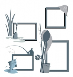 Fishing frames vector