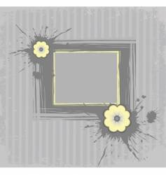 gray frame vector image