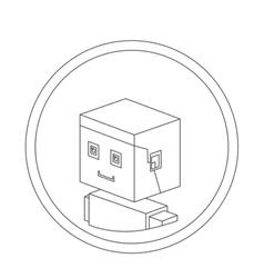 Man isometric avatar vector image