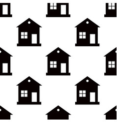 one storey house pattern seamless on white vector image