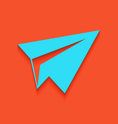 Paper airplane sign whitish icon on brick vector