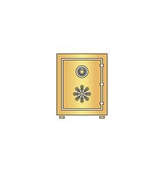 Safe computer symbol vector image